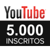 5 Mil Inscritos Em Seu Canal Do Youtube - Vitalício