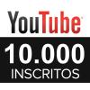 10 Mil Inscritos Em Seu Canal Do Youtube - Vitalício