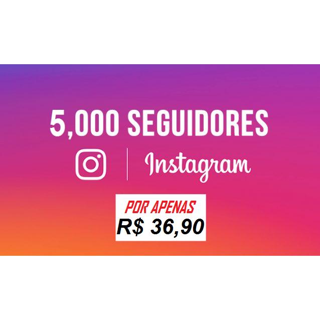 5 Mil Seguidores Instagram Universais - Reposição de 20 Dias