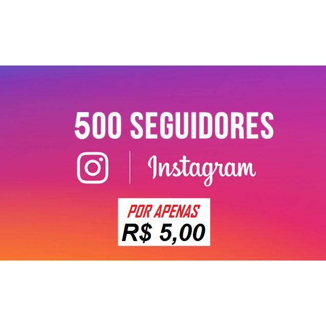 500 Seguidores Instagram Universais - Sem Reposição